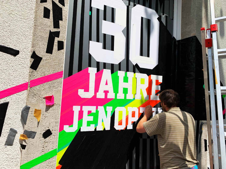 Jenoptik 30 Jahre Heimatkiosk Tape Art Graffiti in Jena