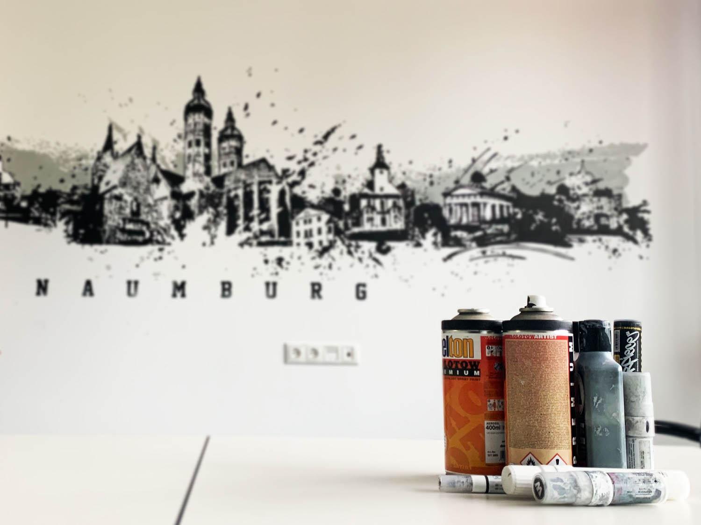 Im Graffiti Look ... Gestaltung einer Skyline Jena, Weimar, Naumburg, Erfurt, Gera